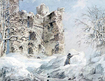 Thomas Girtin - Helmsley Castle, Yorkshire