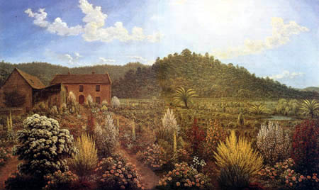 John Glover - House and garden of the artist