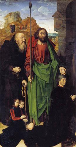 Hugo van der Goes - Portinari Triptychon, linker Flügel