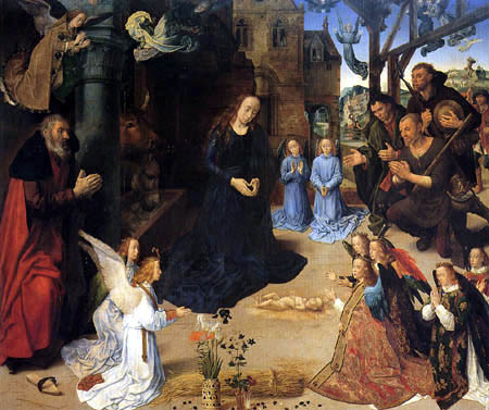 Hugo van der Goes - Portinari Triptychon, Adoration of the Sheperds