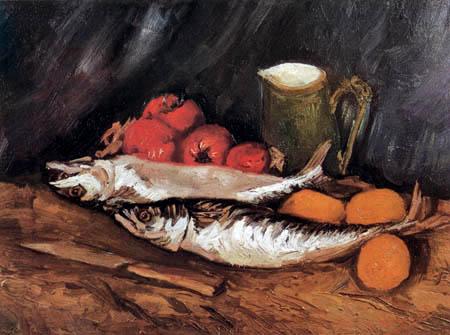 Vincent van Gogh - Stillleben mit Makrelen