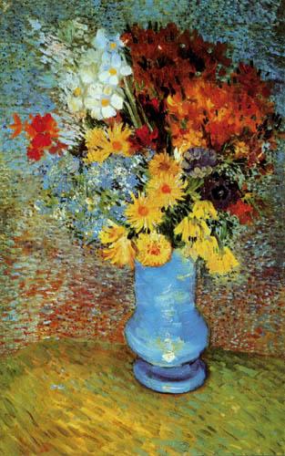 Vincent van Gogh - Vase mit Gänseblumen und Anemonen