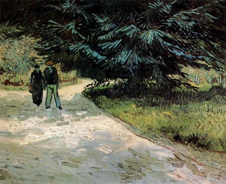 Vincent van Gogh - Ein Paar im Park