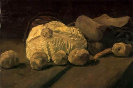 Vincent van Gogh - Stillleben mit Kohl und Holzschuhen