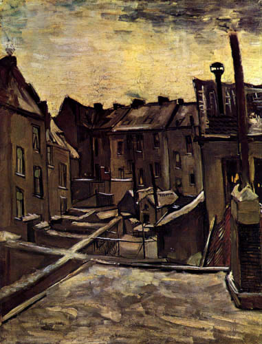 Vincent van Gogh - Hinterhöfe in Antwerpen