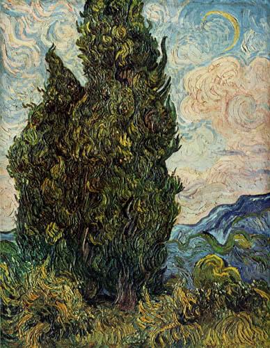 Vincent van Gogh - Zypressen