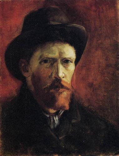 Vincent van Gogh - Selbstbildnis mit dunklem Filzhut