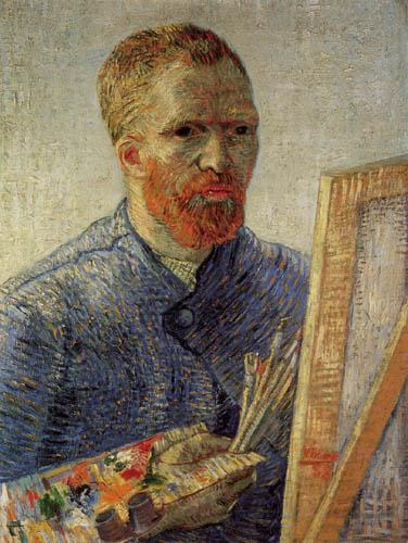 Vincent van Gogh - Selbstbildnis mit Staffelei