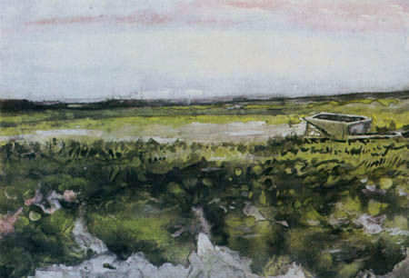 Vincent van Gogh - Heide mit Schubkarren