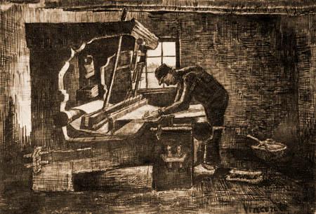 Vincent van Gogh - Un tejedor en el telar