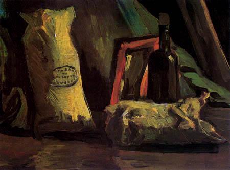 Vincent van Gogh - Stillleben mit Tüten und Flasche