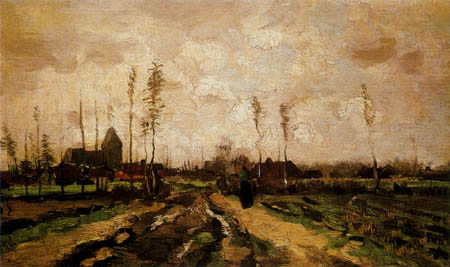 Vincent van Gogh - Landscape with church and houses