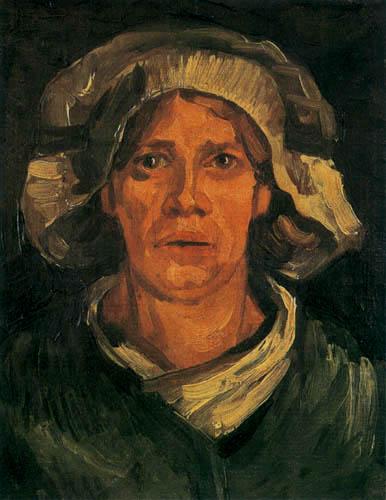 Vincent van Gogh - Bäuerin mit weißer Haube