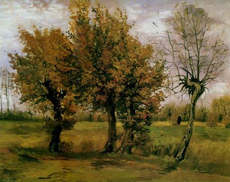 Vincent van Gogh - Herbstlandschaft mit Bäumen