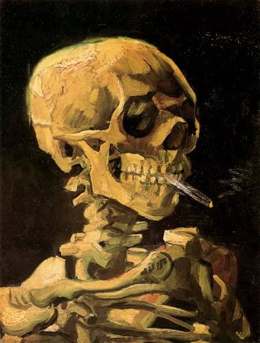 Vincent van Gogh - Crâne avec la cigarette brûlante