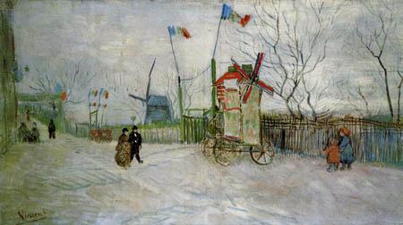 Vincent van Gogh - Straßenszene auf dem Montmarte