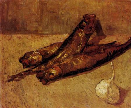 Vincent van Gogh - Stillleben mit Bücklingen und Knoblauch
