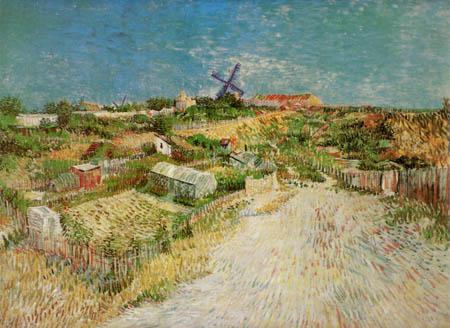 Vincent van Gogh - Gemüsegärten am Montmartre