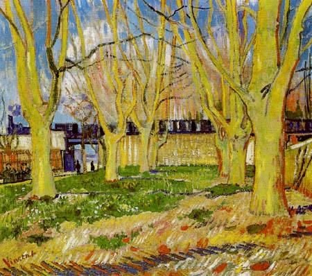 Vincent van Gogh - El tren azul
