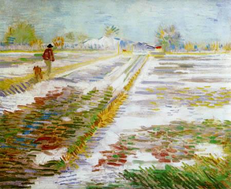 Vincent van Gogh - Landscape in snow