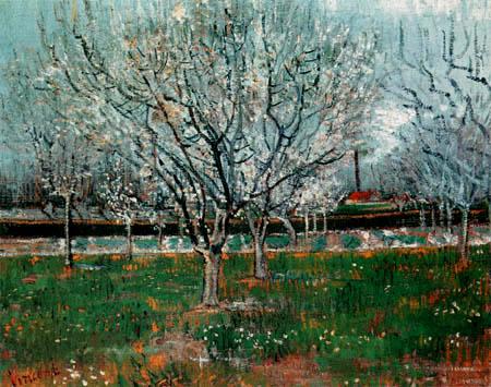 Vincent van Gogh - Blühende Pflaumenbäume