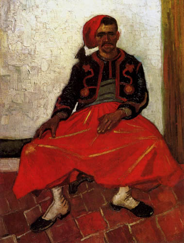 Vincent van Gogh - Sitzender Zuave