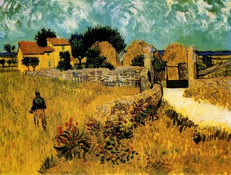 Vincent van Gogh - Bauernhaus in der Provence