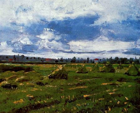 Vincent van Gogh - Weizenfeld mit Hocken