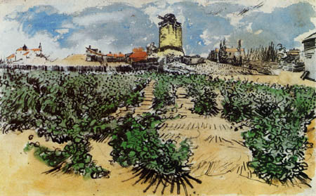 Vincent van Gogh - Die Mühle in Fontevielle