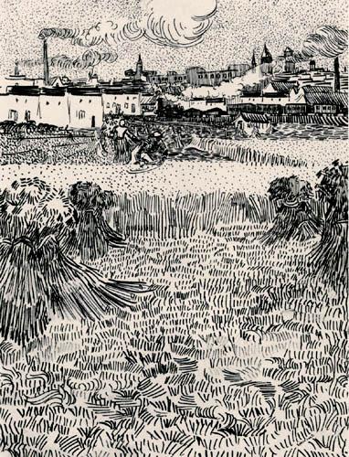 Vincent van Gogh - Weizenfeld mit Blick auf Arles, Studie