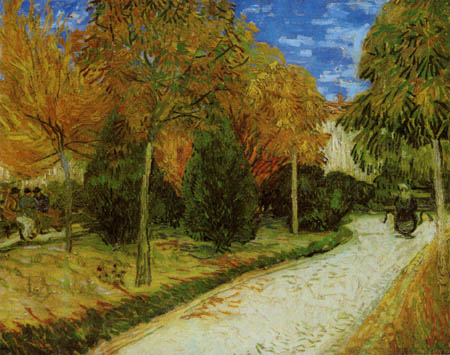 Vincent van Gogh - Weg im Park von Arles