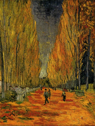 Vincent van Gogh - Les Alyscamps, Allee in Arles