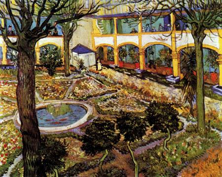 Vincent van Gogh - Der Garten des Hospitals in Arles