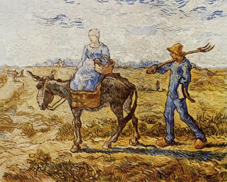 Vincent van Gogh - Auf dem Weg zum Feld (nach Millet)