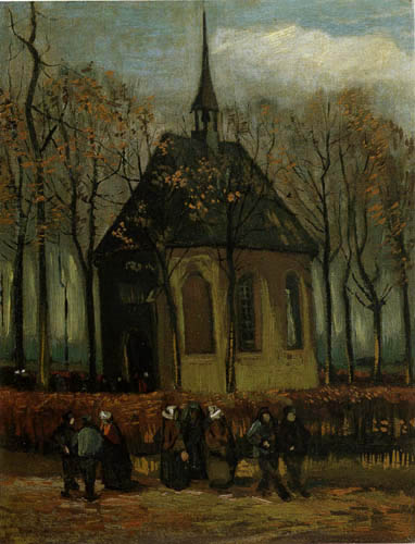 Vincent van Gogh - Die reformierte Kirche in Nuenen