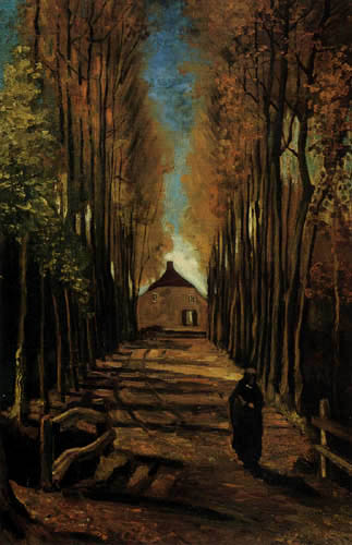 Vincent van Gogh - Pappelallee im Herbst