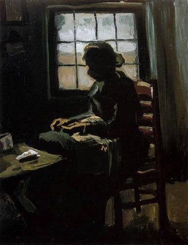 Vincent van Gogh - Stitching Woman