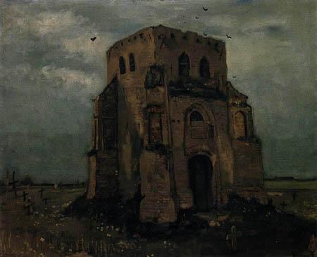 Vincent van Gogh - Der alte Kirchturm in Nuenen
