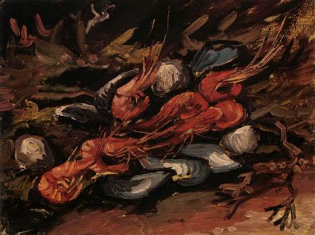 Vincent van Gogh - Muscheln und Garnelen