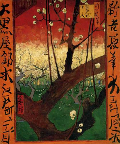 Vincent van Gogh - Der blühende Pflaumenbaum (nach Hiroshige)