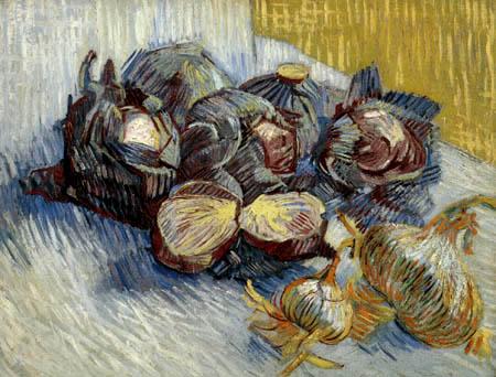 Vincent van Gogh - Stillleben mit Kohl und Zwiebeln