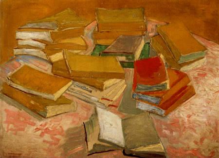 Vincent van Gogh - Tisch mit Büchern