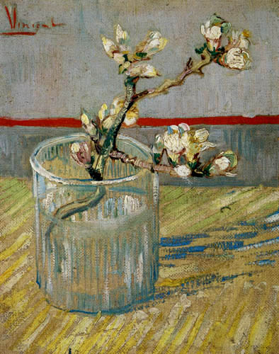 Vincent van Gogh - Blühender Mandelzweig in einem Glas