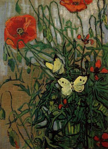 Vincent van Gogh - Schmetterlinge und Klatschmohn