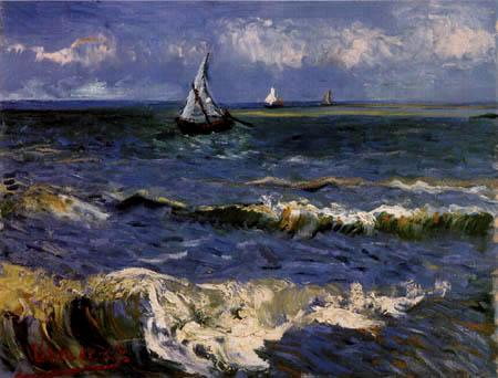 Vincent van Gogh - La Mer avec des Les Saintes-Maries