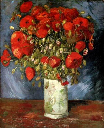Vincent van Gogh - Vase mit rotem Klatschmohn