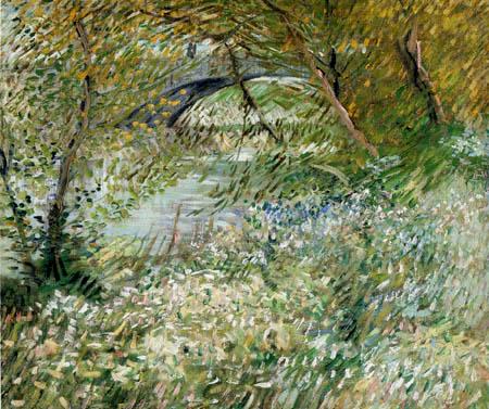 Vincent van Gogh - Seineufer im Frühling an der Pont de Clichy