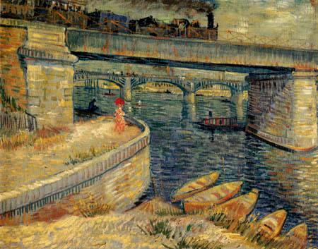 Vincent van Gogh - Brücken in Asnieres