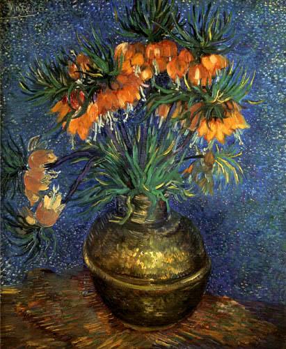 Vincent van Gogh - Kaiserkronen in einer Kupfervase