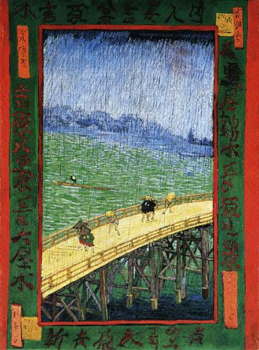 Vincent van Gogh - Japanische Brücke im Regen